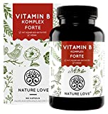 NATURE LOVE® Vitamin B Komplex Forte - Mit 500...